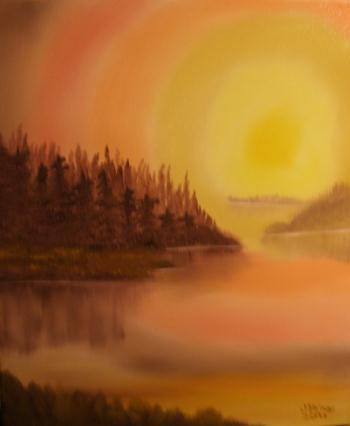 Soothing Sunset, art for sale online by Jim Waligora
