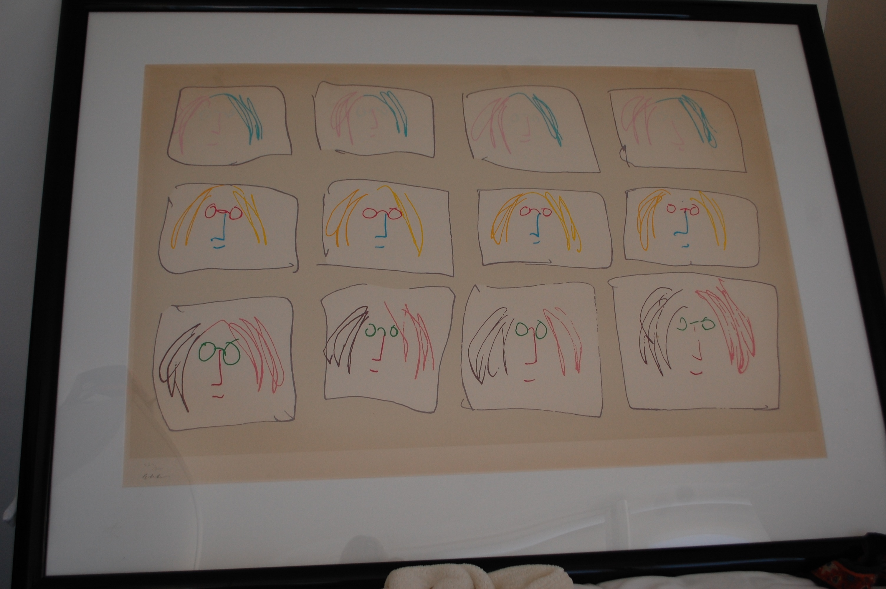 MULTIPLE SELF PORTRAIT artwork by John Lennon - art listed for sale on Artplode