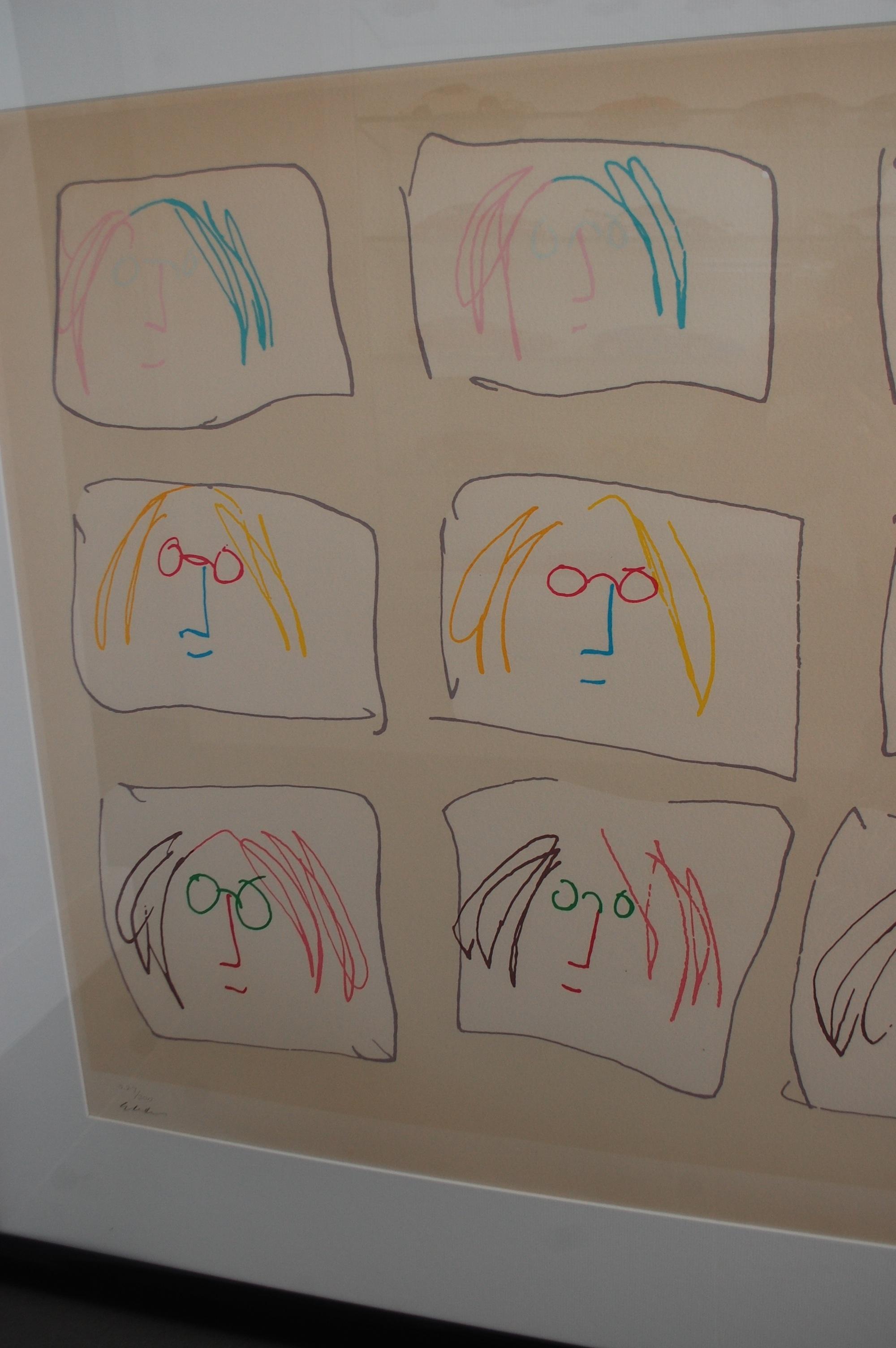 cf95ee589ef5e ... MULTIPLE SELF PORTRAIT artwork by John Lennon - art listed for sale on  Artplode