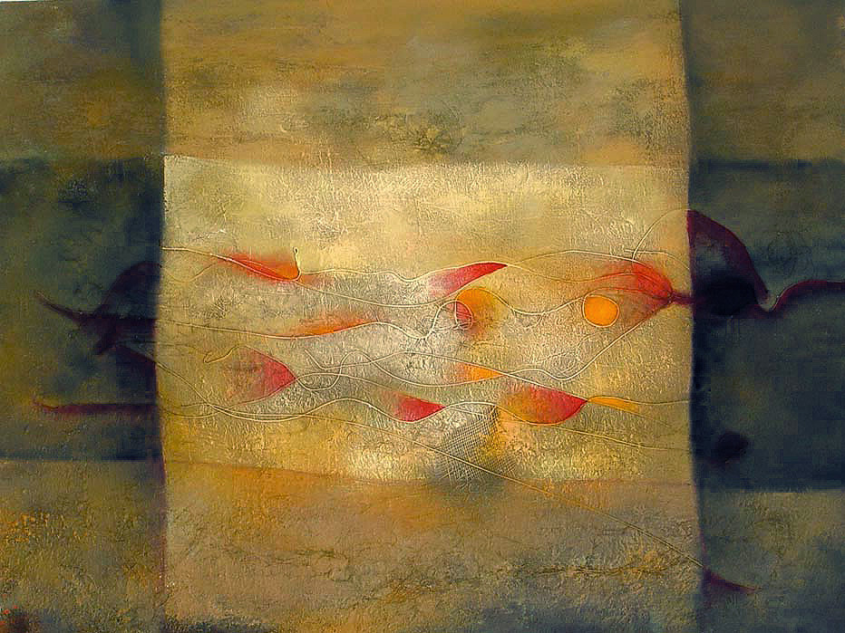 In the flow artwork by Natalia Kaza - art listed for sale on Artplode