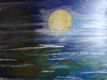 MOON from HILL STREET, art for sale online by IRENA Grant Koch