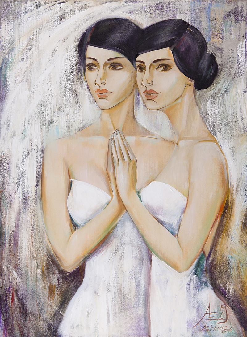 Mirror artwork by Ekaterina Abramova - art listed for sale on Artplode