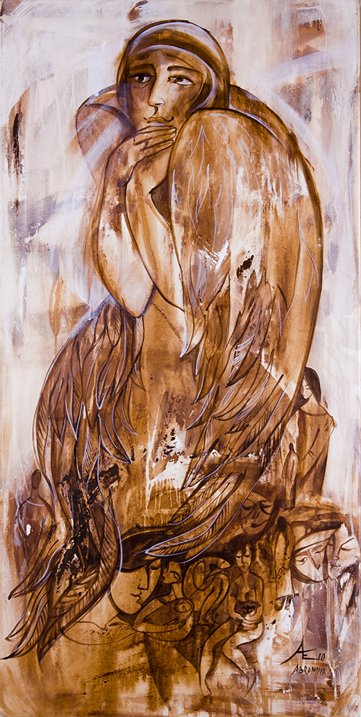 Angel in the World artwork by Ekaterina Abramova - art listed for sale on Artplode
