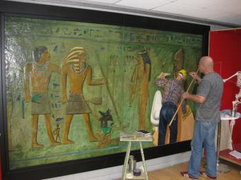 Duchamp and the Pharaoh artwork by Gordon Liddle