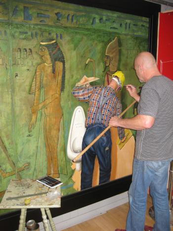 Duchamp and the Pharaoh artwork by Gordon Liddle - art listed for sale on Artplode