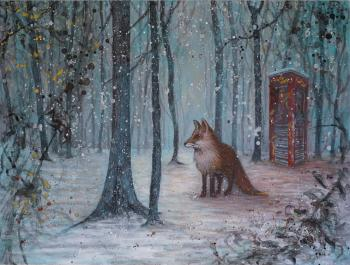 Retaliation of the Fox, art for sale online by Therese Aasvik