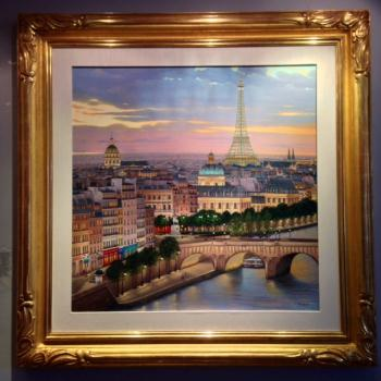 Quai di Conti, art for sale online by Liudmila Kondakova
